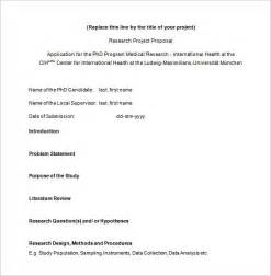 Business Research Proposal Template Proposal Template For Research Sample Of Research Proposal