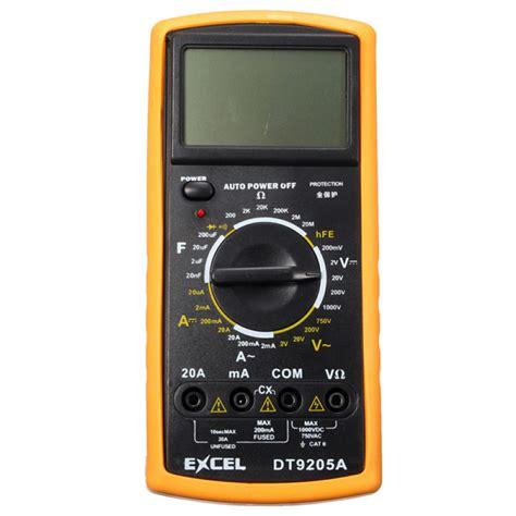 Multimeter Excel buy excel dt9205a digital ac dc ammeter resistance