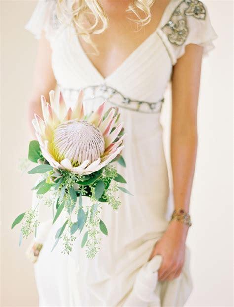 Unique Single Stem Flowers Wedding Single Stem Bouquet Unique Weddings Protea Wedding And