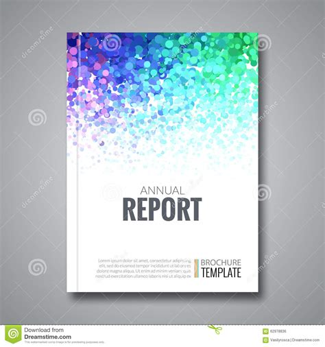 Background Report Business Report Design Background With Colorful Stock Vector Illustration Of