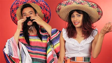 mexican people try mexican costumes youtube