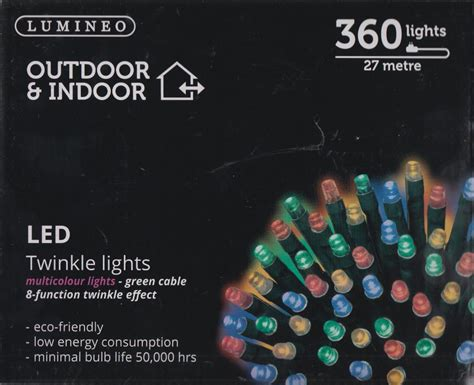 lumineo indoor outdoor led twinkle christmas lights