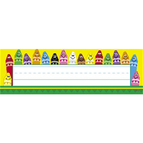 colorful crayons desk toppers 174 name plates