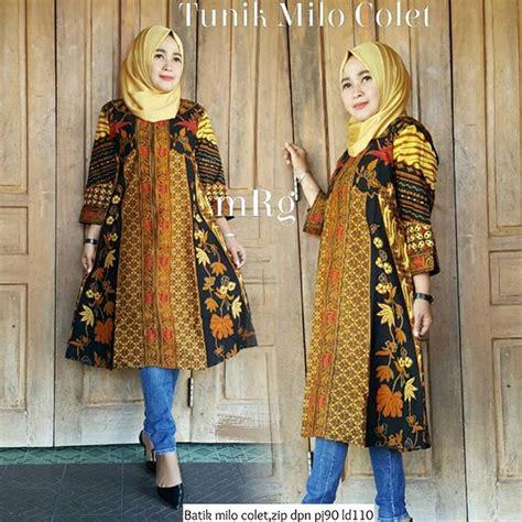 Batik Atasan Wanita Tunik Manyala jual baju batik wanita modern baju kerja batik baju atasan batik tunik batik dress batik di