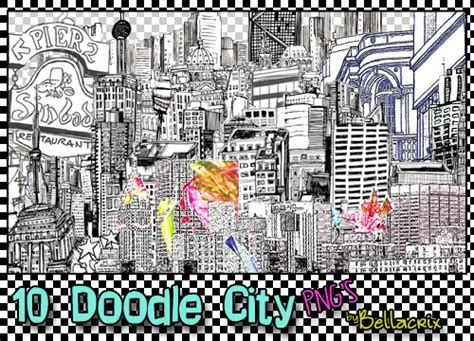 doodle city 10 doodle city pngs by bellacrix on deviantart