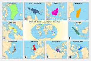 World S Largest Map by World S Top Ten Largest Islands Acs Map Portfolio