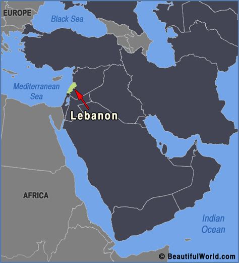 lebanon on world map map of lebanon facts information beautiful world