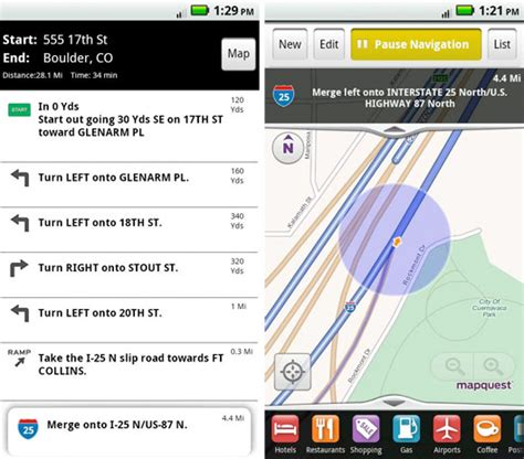 mobile mapquest mapquest for android brings free turn by turn navigation