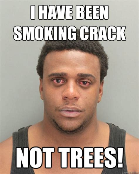 Crack Meme - i have been smoking crack not trees misc quickmeme