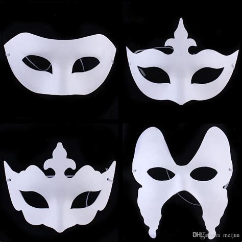 Mask With Paper - cheap diy painting white paper masks venetian