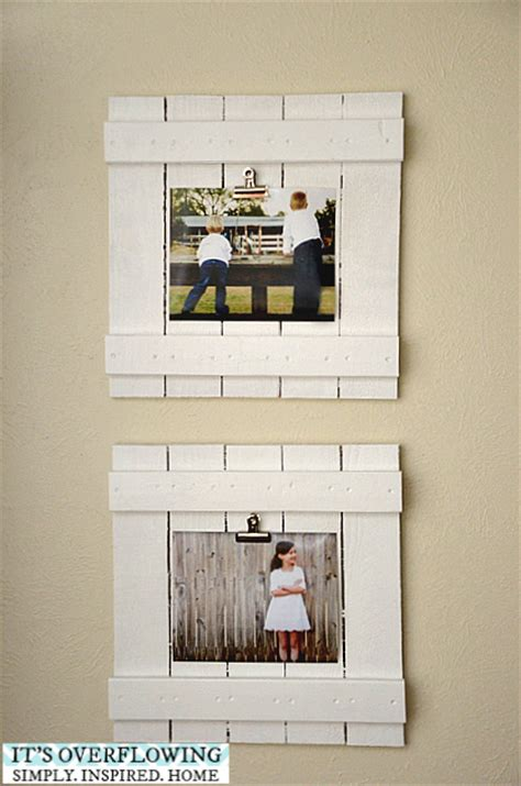 How To Make A Picture Frame Out Of Paper - diy frame tutorial its overflowing