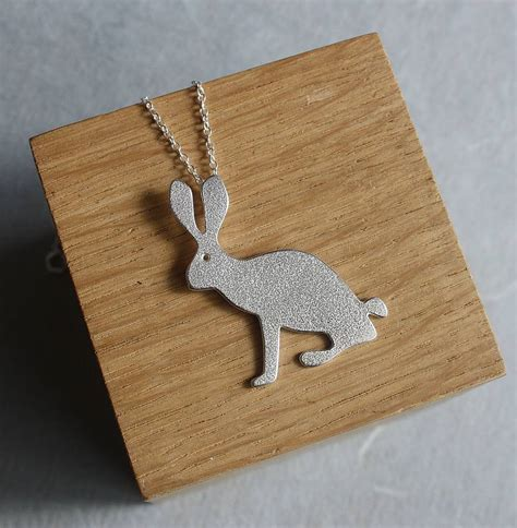 Handmade By Caroline - handmade silver hare pendant by caroline cowen jewellery
