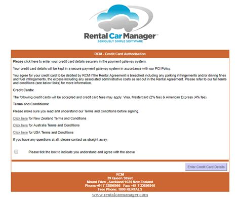 Credit Card Payment Email Template by Credit Card Payment By Email Rental Car Manager