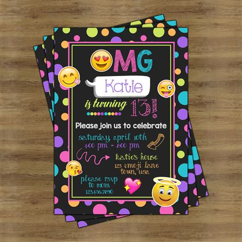 New Home Party Decorations by Emoji Party Invitations Emoji Invitations Emoji Birthday