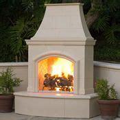 stucco outdoor fireplace search backyard