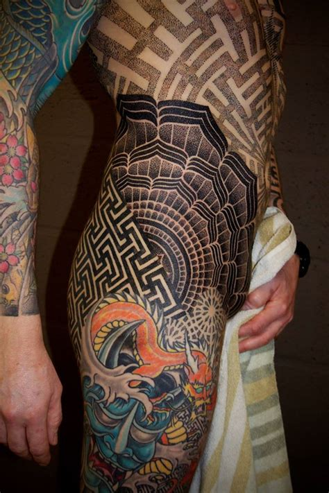 hip tattoos for men badass geometric hip by vincent hocquet