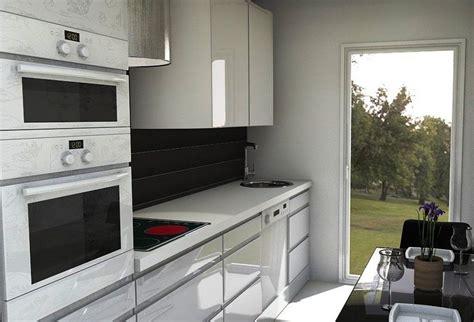 diseno de cocinas alargadas  estrechas busqueda de