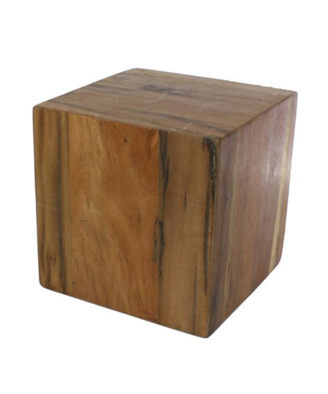 wood block end table reclaimed wood block side or display tables shop nectar