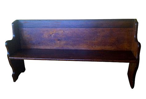 bench church antique new england church pew omero home