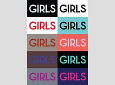 HBO GIRLS season 2 title screens. #colors #typography # ... Girls Hbo Title Card