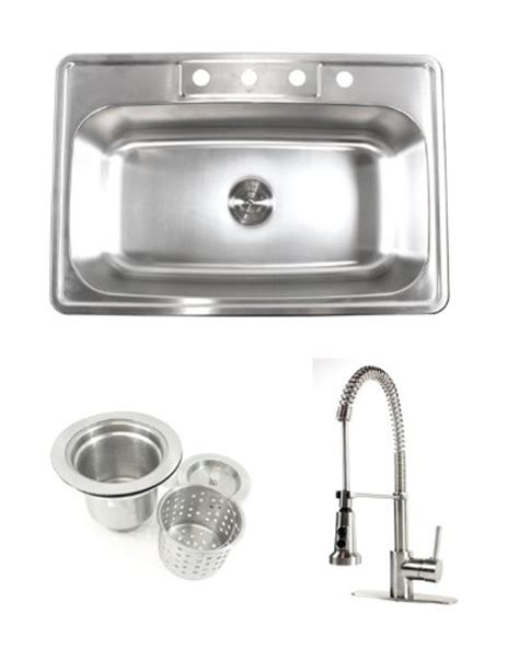compare 33 inch stainless steel top mount drop in single