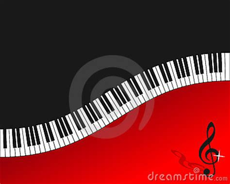 piano keyboard red background stock photography image