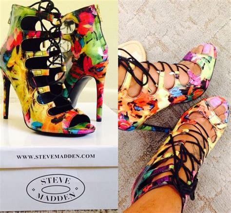 multi colored heels steve madden shoes multicolor steve madden wheretoget