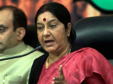 sushma swaraj wikipedia oppn trying to destabilise modi sarkar says sena on