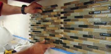 Installing Glass Tiles For Kitchen Backsplashes How To Install A Mosaic Tile Backsplash Today S Homeowner