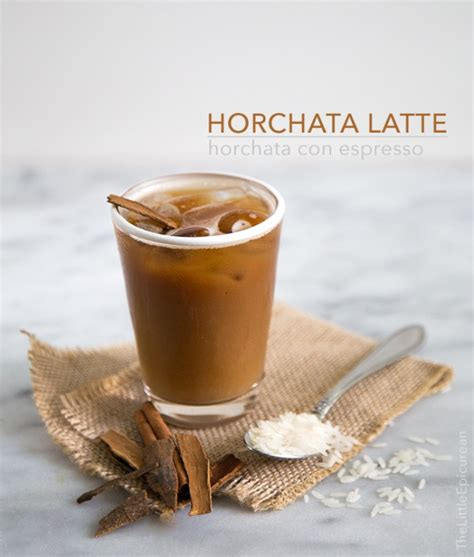 horchata latte the little epicurean
