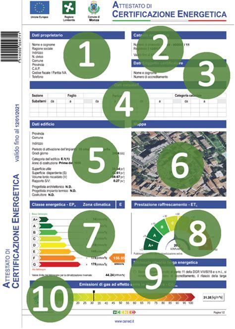 esempio certificazione energetica appartamento esempio certificazione energetica classe energetica eph