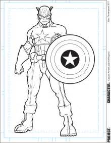captain america coloring pages the of tourangeau captain america inks