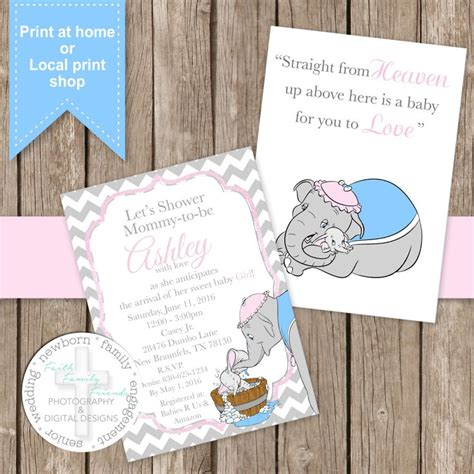 17 Best Ideas About Dumbo Baby Shower On Pinterest Elephant Theme Baby Shower Elephant Boy Dumbo Invitation Template