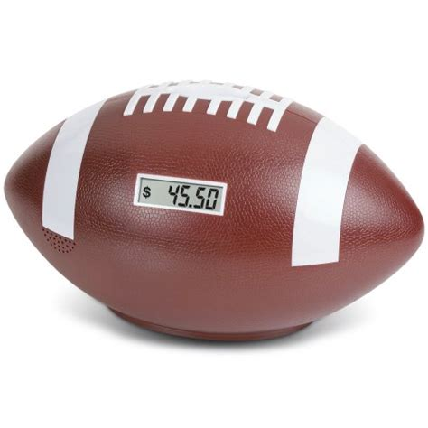 football bank football coin counting piggy bank count coins and save