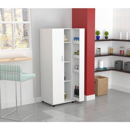 inval kitchen storage cabinet pantry larcinia white
