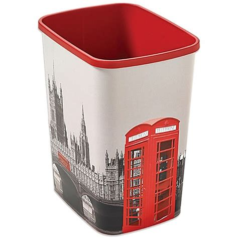 decorative bathroom trash cans buy decorative london trash can from bed bath beyond