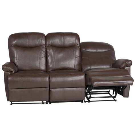 3 seater brown leather recliner sofa leather recliner sofa 3 seater kronos brown price