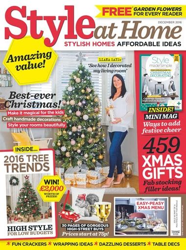 at home magazine style at home magazine december 2016 subscriptions