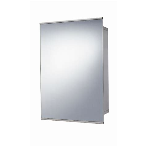 stainless steel sliding door mirrored cabinet 500 h 340 w