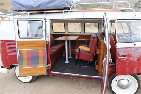 vw bus upholstery custom teak interior for 1967 vw bus a project for icon