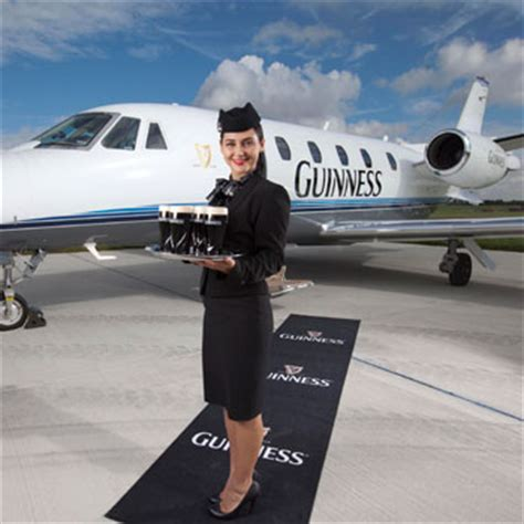 luxury jet service takes for guinness