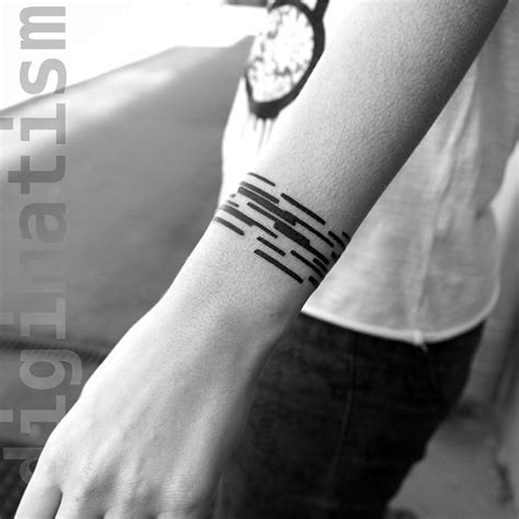 black line tattoos black lines wrist best ideas gallery