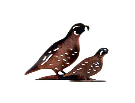 Metal Garden Art Birds - smw155 metal wall garden art small quail bird sunriver metal works