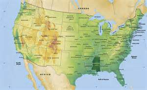 blank map of united states landforms
