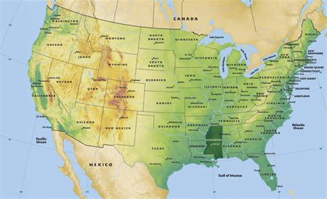 us geography map blank map of united states landforms