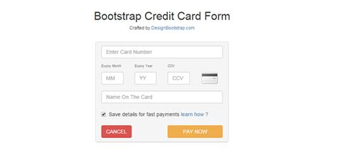 Credit Card Form Html5 12 Time Saving Bootstrap Exles Tutorialzine