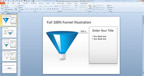 free powerpoint funnel template free funnel analysis ppt presentation exles