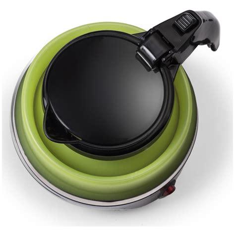 Kitchen Gourmet Kettle Gourmet Gadgetry Collapsible Travel Kettle Green Black