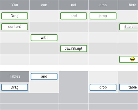 javascript drag and drop tutoriale video drag and drop table content with javascript redips