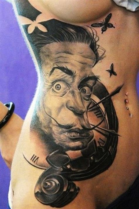 black and dali on pinterest collection of 25 black and white dali clock tattoos
